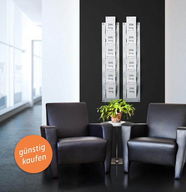 wandprospekthalter alu vom hersteller g nstig kaufen. Black Bedroom Furniture Sets. Home Design Ideas