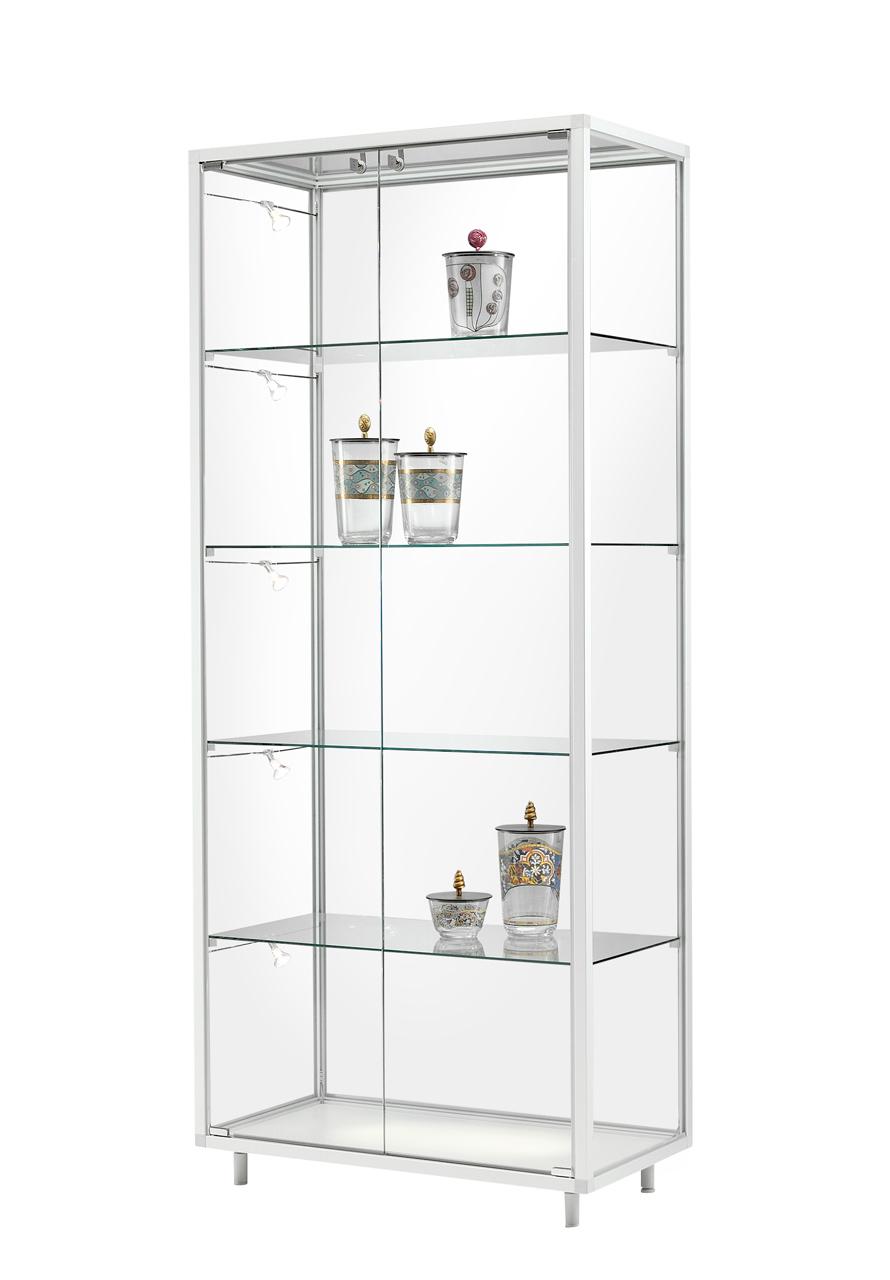 gro e glas vitrine nicola aus sicherheitsglas alu prospektst nder gmbh. Black Bedroom Furniture Sets. Home Design Ideas