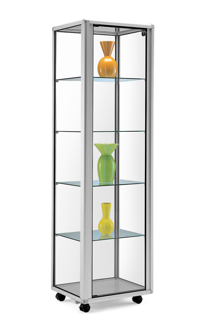 mobile kleine glas vitrine norat von alu prospektst nder gmbh alu prospektst nder gmbh. Black Bedroom Furniture Sets. Home Design Ideas